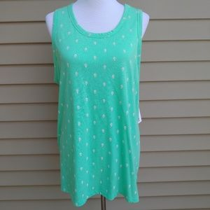 Sonoma| Tank Light Green Cactus Print Blouse